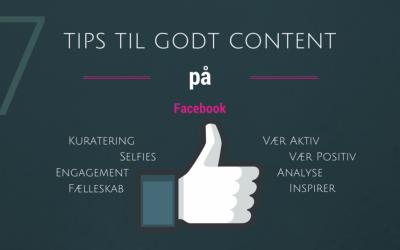 7 Tips til godt content på Facebook